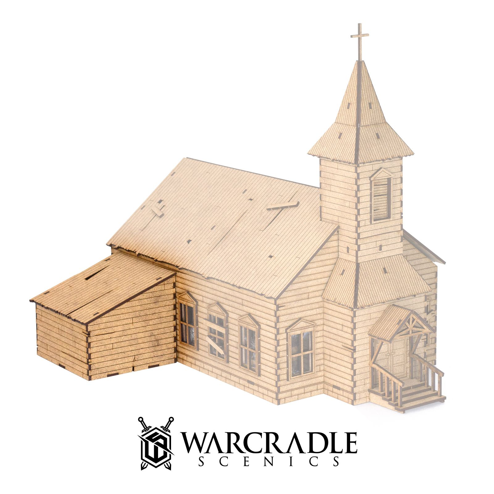 New Warcradle Scenics Woodford Church Upgrade Pack